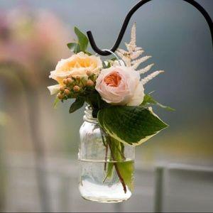 Hanging mason jar vase